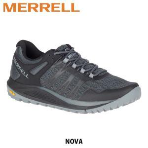 メレル MERRELL メンズ トレイルランニングシューズ Nova ノヴァ ローカット ブラック メッシュ ビブラムソール 48831 MERM48831|hikyrm