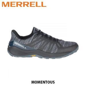 メレル MERRELL メンズ トレイルランニング シューズ モーメンタス メッシュ 速乾 軽量 Momentous Black ブラック 48833 MERM48833|hikyrm