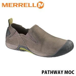 メレル MERRELL メンズ パスウェイ モック ボールダー アウトドア ウォーキング レザー スリッポン シューズ PATHWAY MOC 66329 MERM66329|hikyrm