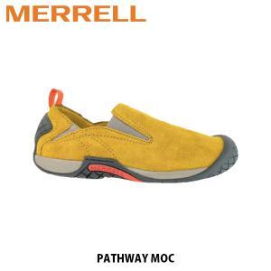 メレル MERRELL メンズ パスウェイ モック レザー スリッポン シューズ アウトドア ウォーキング 登山 PATHWAY MOC HONEY ハニー 66337 MERM66337|hikyrm