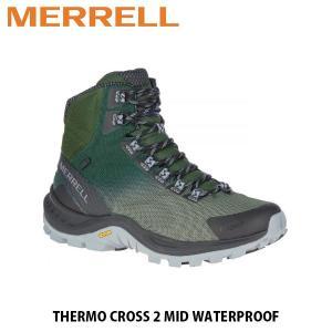 メレル MERRELL メンズ ウィンターブーツ サーモ クロス 2 ミッド ウォータープルーフ フォレスト THERMO CROSS 2 MID WATERPROOF FOREST 90027 MERM90027 hikyrm