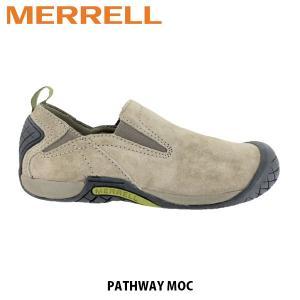 メレル MERRELL レディース パスウェイ モック レザー スリッポン シューズ アウトドア ウォーキング 登山 PATHWAY MOC BOULDER ボールダー 32026 MERW32026|hikyrm