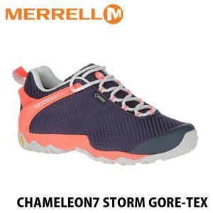 メレル MERRELL レディース カメレオン7 ストーム ゴアテックス ネイビー×ピンク ハイキングシューズ CHAMELEON7 STORM GORE-TEX 38606 MERW38606|hikyrm