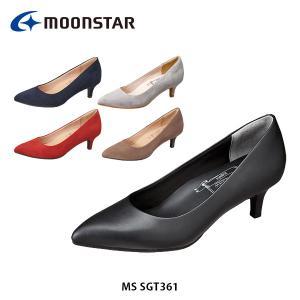 ムーンスター レディース パンプス MS SGT361 やわらか設計 軽量設計 靴 シューズ SUGATA 1E ブラック 黒 女性用 月星 MOONSTAR MSSGT361|hikyrm