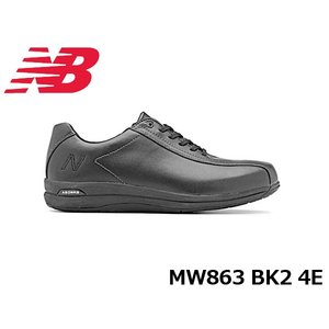 ニューバランス メンズ シューズ スニーカー MW863 BK2 4E カラー BLACK New Balance 国内正規品 MW863BK24E hikyrm