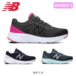 ニューバランス スニーカー レディース ランニングシューズ フィットネス ジム トレーニング ウォーキング W411 ワイズ B 靴 NB New Balance NB21FWW411BC|hikyrm