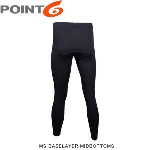 POINT6 ポイントシックス ポイント6 メンズ ベースレイヤー メリノウール Ms baselayer midbottoms アウトドア レギンス インナー P68002|hikyrm