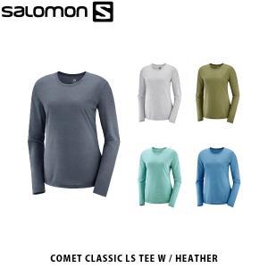 サロモン レディース 長袖 Tシャツ ELEVATE MOVEON LS TEE W ロングスリーブ ベースレイヤー ランニング SALOMON SAL0085|hikyrm