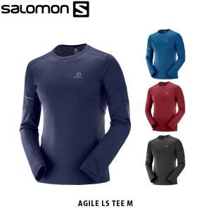 SALOMON サロモン メンズ 長袖Tシャツ AGILE LS TEE M 速乾性 アウトドア SAL0667|hikyrm