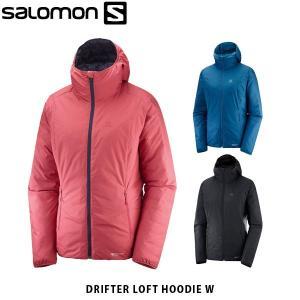 SALOMON サロモン レディース ジャケット リバーシブル DRIFTER LOFT HOODIE W アウター 保温 撥水 アウトドア LC1145000 LC1145100 LC1238400 SAL0681|hikyrm