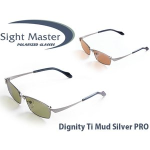 サイトマスター 偏光サングラス ディグニティTi マッドシルバーPRO プロカラーシリーズ イーズグリーン ラスターオレンジ Sight Master SIG775123251 hikyrm