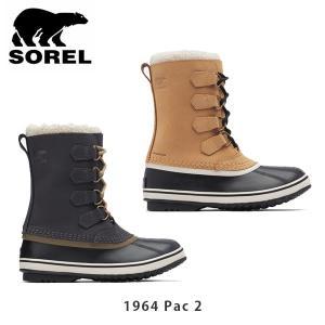 ソレル SOREL レディース 1964 パック2 ウィンターシューズ スノーブーツ ウォータプルーフラバー シューズ 靴 1964 Pac 2 SORNL1645|hikyrm