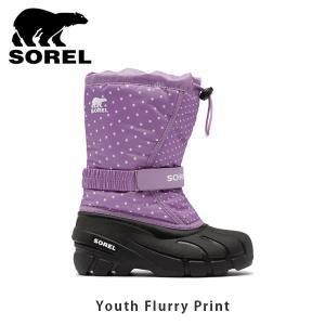 SOREL ソレル キッズ Youth Flurry Print ユースフルーリー シューズ 靴 ブーツ ウィンターシューズ スノーブーツ 防水防風加工 アウトドア 登山 SORNY3503|hikyrm