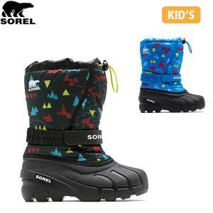 SOREL ソレル キッズ Youth Flurry Print ユースフルーリー シューズ 靴 ブーツ ウィンターシューズ スノーブーツ 防水防風加工 アウトドア 登山 SORNY3504|hikyrm