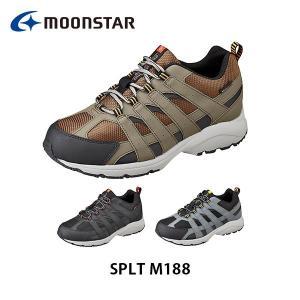 ムーンスター メンズ シューズ スニーカー SPLT M188 ワイド設計 ふわピタ中敷 防水設計 靴 5E 男性用 月星 MOONSTAR SPLTM188|hikyrm