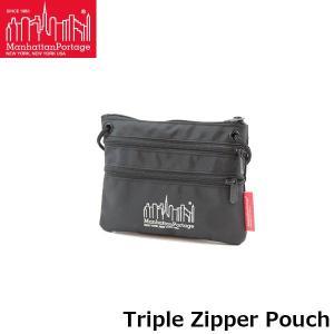 マンハッタンポーテージ Manhattan Portage サコッシュ Triple Zipper Pouch ミニショルダーバッグ メンズ レディース TRIPLEZIPPERPOUCH hikyrm