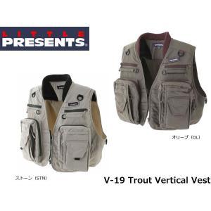 リトルプレゼンツ LITTLE PRESENTS TR バーチカルベスト Trout Vertical Vest V-19 V19|hikyrm