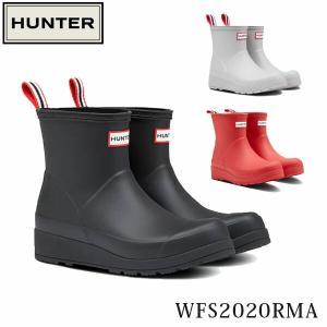 ハンター HUNTER レディース レインブーツ 長靴 オリジナル プレイ ショートブーツ ラバーブーツ 防水 レイン 梅雨 WFS2020RMA 国内正規品|hikyrm