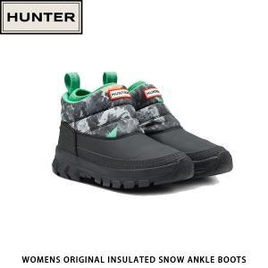 HUNTER ハンター レディース オリジナル インシュレーテッド アンクル スノーブーツ WOMENS ORIGINAL INSULATED SNOW ANKLE BOOTS WFS2049WWUSOM 国内正規品|hikyrm