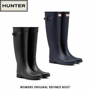 HUNTER ハンター レディース レインブーツ オリジナル リファインド ブーツ WOMENS REFINED SLIM FIT TALL RAIN BOOTS 長靴 梅雨 WFT1071RMA 国内正規品|hikyrm
