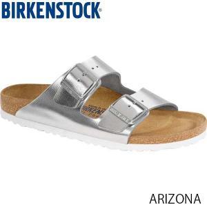 ビルケンシュトック BIRKENSTOCK レディース サンダル アリゾナ ARIZONA ベルト コンフォート カジュアル メタリックシルバー 幅狭 GC1000062 国内正規品|hikyrm