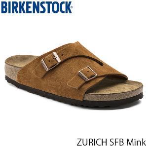 ビルケンシュトック メンズ サンダル チューリッヒ ソフトフットベッド ZURICH SFB スエードレザー 幅広 ミンク BIRKENSTOCK GC1009534 国内正規品|hikyrm