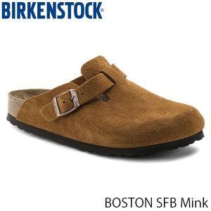 ビルケンシュトック レディース メンズ サンダル ボストン ソフトフットベッド BOSTON SFB 幅狭 ミンク BIRKENSTOCK GC1009543 国内正規品|hikyrm