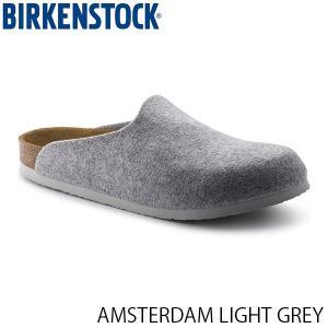 ビルケンシュトック ユニセックス サンダル AMSTERDAM LIGHT GREY 幅広 FELT BIRKENSTOCK GC1016656 国内正規品|hikyrm