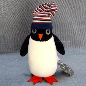 esthex エステックス オルゴール付 ぬいぐるみ ペンギン ミュージカルトイ  ネッド Musicbox penguin Ned おしゃれ かわいい 出産祝いや誕生日のプレゼントに!|hilcy