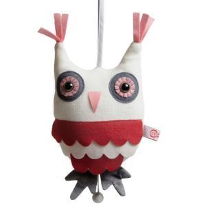 esthex エステックス オルゴール付き ふくろう ぬいぐるみ ミュージカルトイ ピンク Musicbox owl  Pink おしゃれ かわいい 出産祝いや誕生日のプレゼントに!|hilcy