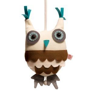 esthex エステックス オルゴール付き ふくろう ぬいぐるみ ミュージカルトイ グレー Musicbox owl  Grey おしゃれ かわいい 出産祝いや誕生日のプレゼントに!|hilcy