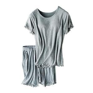(シント・エム) ShintoM リブ カップ付き Tシャツ & ショートパンツ セット速乾 伸縮性 ナイトウエア ルームウエア パジャマ hilife