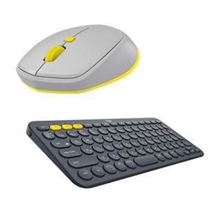 ロジクール ワイヤレスマウス キーボード セット グレー×ブラック 無線 薄型 M337GR + K380BK|hilife