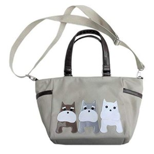 日本製 お散歩バッグ ショルダー 犬 斜 多機能 多収納 めがけ おしゃれ かわいい シュナウザー 犬柄 雑貨 グッズ プレゼント hilife