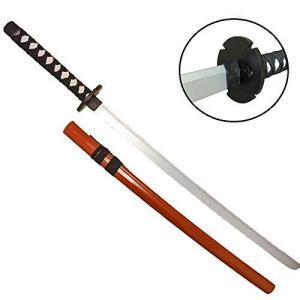 模造刀 刀 逆刃刀 模擬刀 BATSU・TOU 100cm 木製 コレクション コスプレ (オレンジ)|hilife