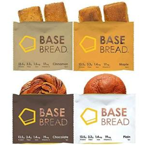 BASE BREAD ベースブレッド 4種 (プレーン4袋・チョコレート4袋・メープル4袋・シナモン4袋) 16袋セット 完全食 完全栄養食|hilife