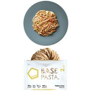 BASE PASTA ベースパスタ フィットチーネ 8食分 完全食 完全栄養食 お試しソース(ボロネーゼ)1食付|hilife