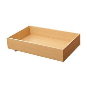 ベッド・ソファ下収納ボックス キャスター付き木製収納箱 幅80cm/ナチュラル|hilife
