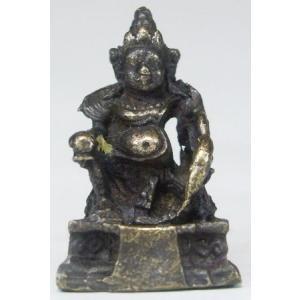 毘沙門天 豆仏 ブロンズ 密教仏像Bz28 himal