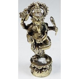 聖天(ガネーシャ) 豆仏 ブロンズ 密教仏像Bz32 himal