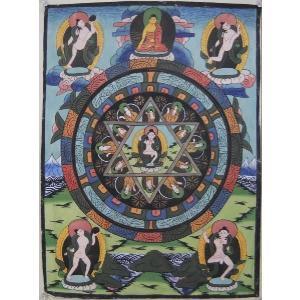 曼荼羅(古物)Mn0201a 虚空蔵菩薩|himal