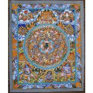 虚空蔵菩薩 手描き 曼荼羅Mn0209|himal