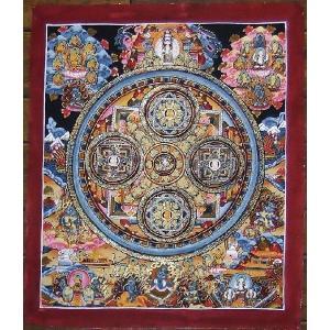 虚空蔵菩薩 手描き曼荼羅Mn0218 himal