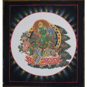 虚空蔵菩薩 手描き曼荼羅Mn0231 himal