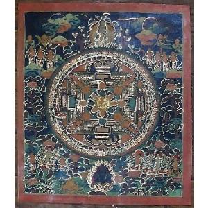 普賢菩薩 手描き曼荼羅Mn0411|himal