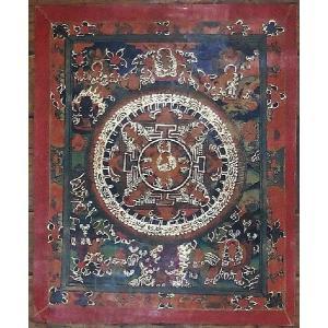 普賢菩薩 手描き曼荼羅Mn0412|himal
