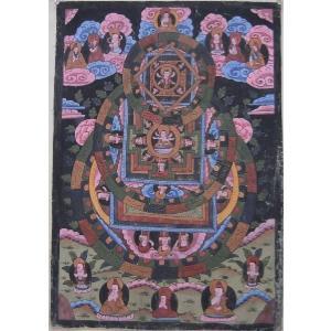 曼荼羅(古物)Mn0601a 大日如来|himal