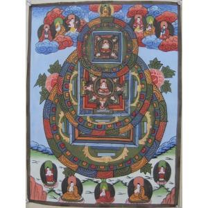 曼荼羅(古物)Mn0601c 大日如来|himal