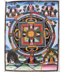 曼荼羅(古物)Mn0601e 大日如来|himal