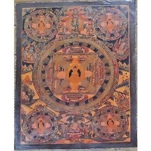 阿弥陀如来 手描き曼荼羅Mn0811 himal